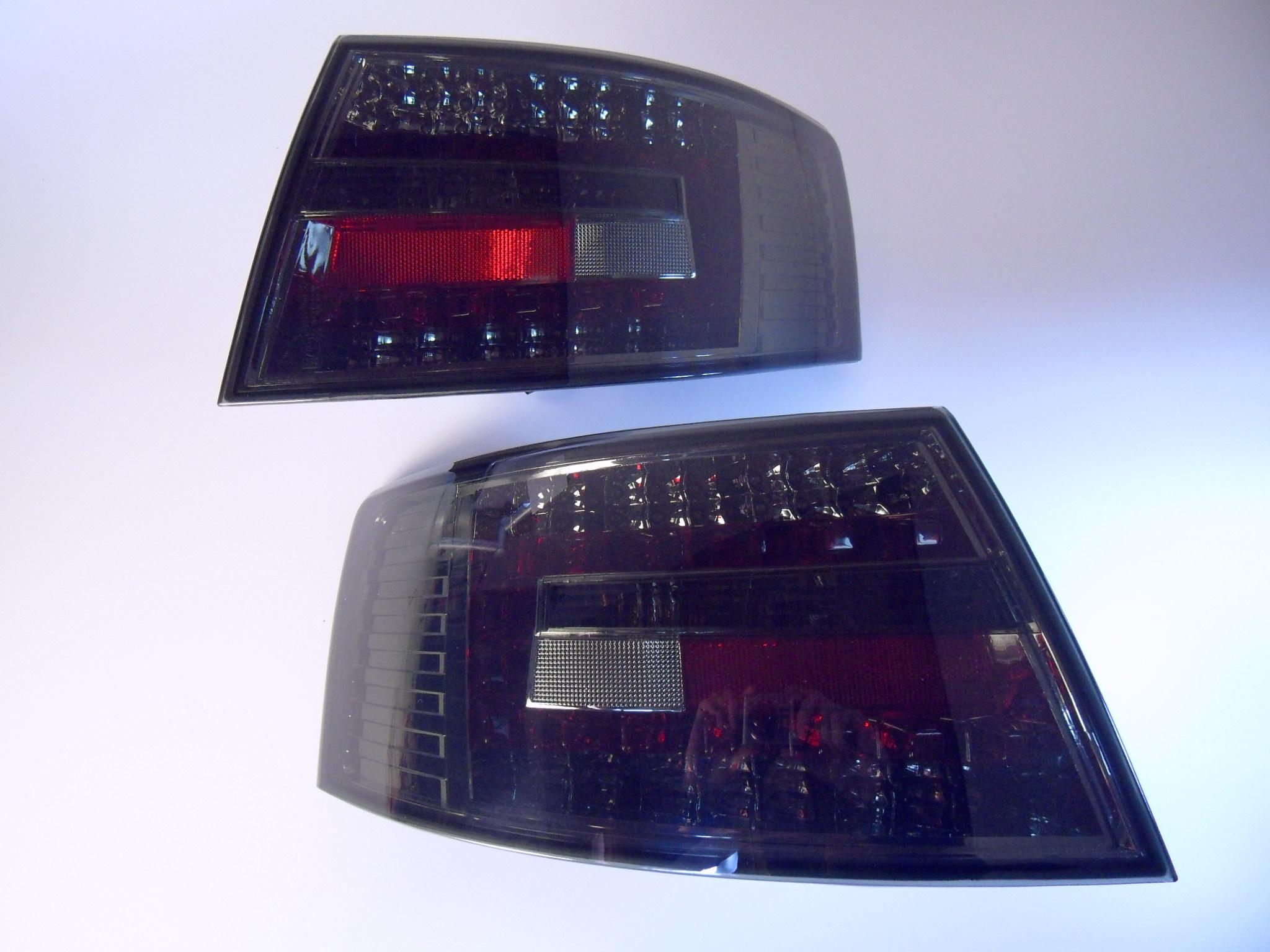 led r ckleuchten audi a6 4f limousine schwarz rauch glas. Black Bedroom Furniture Sets. Home Design Ideas